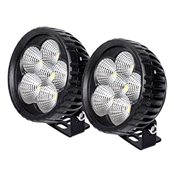 Faro de Led,JieHe 2PCS 18W Focos Led Tractor 1800LMS Barra Led 4x4 Luz De