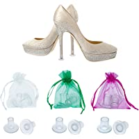 TOODOO 12 Pairs Heel Stoppers High Heel Protectors for Women's Shoes, Small/Middle/Large, Transparent