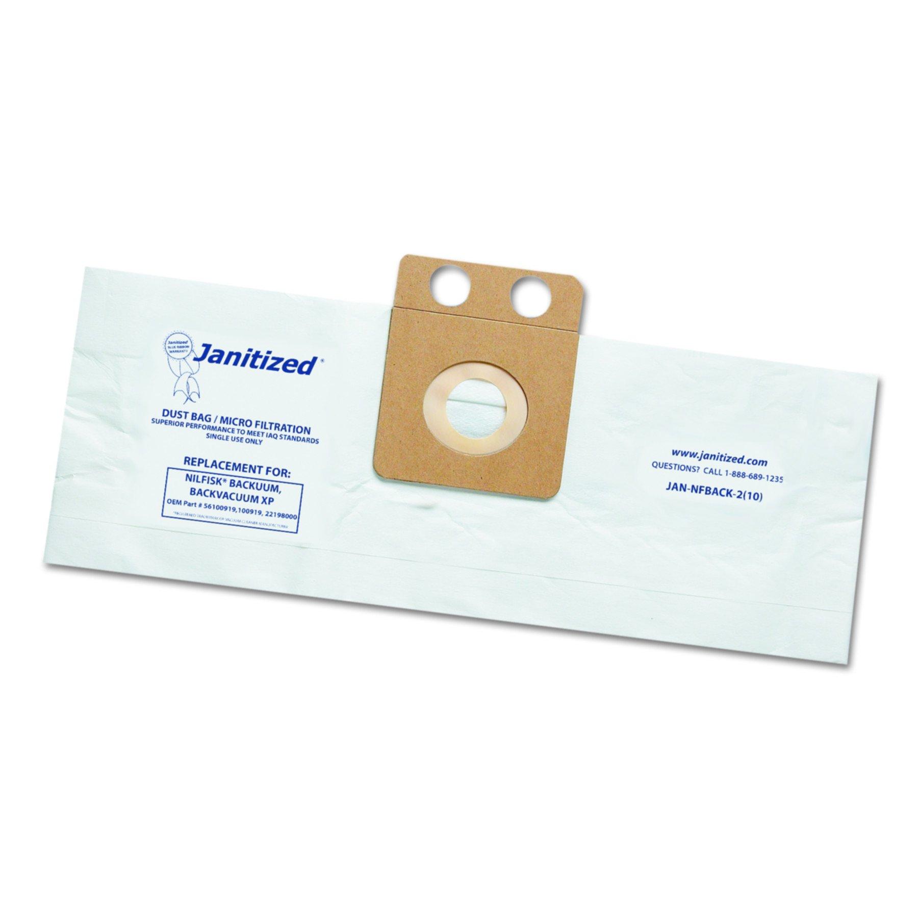 Janitized JANNFBACK2 Vacuum Filter Bags Designed to Fit Nilfisk Backuum Backpack XP (Case of 100)