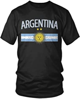 Amdesco Mens Argentina Flag and Sun Emblem, Sun of May T-shirt