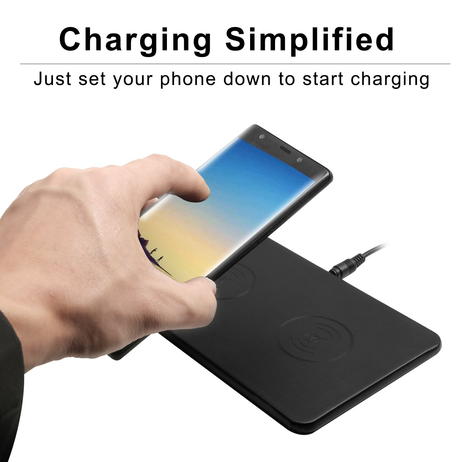 Qi Triple Wireless Charger Station,JE 3 Devices Multi Wireless Charger Pad,Desktop Charging Station for iPhone X, iPhone 8/8Plus, Samsung Galaxy S8+ S7/S7 Edge Note 8/5, Nexus 5/6/7& all QI-Enabled … by JE (Image #4)