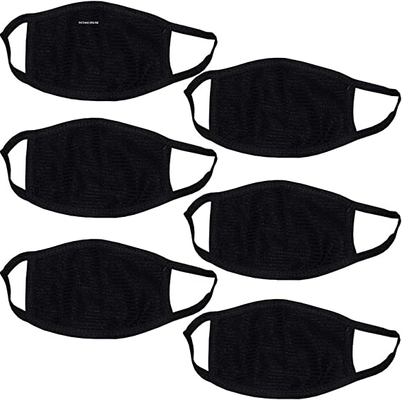 Pathak Online Dust Cotton Mouth Nose Cover Anti-pollution Mask for Bullet (Black) - Pack of 6