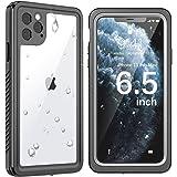 SNOWFOX iPhone 11 Pro Max Waterproof Case, Built-in Screen Protector IP68 Certified Full Body Heavy Duty Protection Underwate