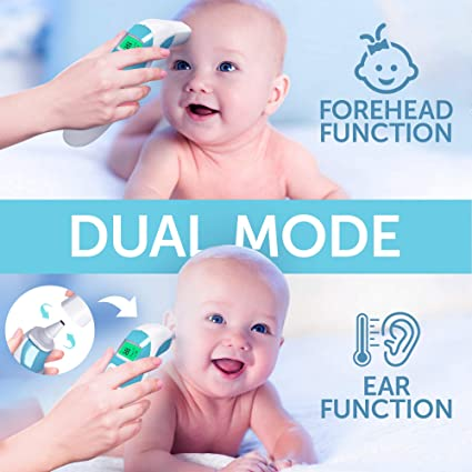 Adults Children LCD Display No Touch Californiamicroneedle New 2020 Thermometer with Fever Alarm and Memory Function Infants Indoor Ideal for Babies