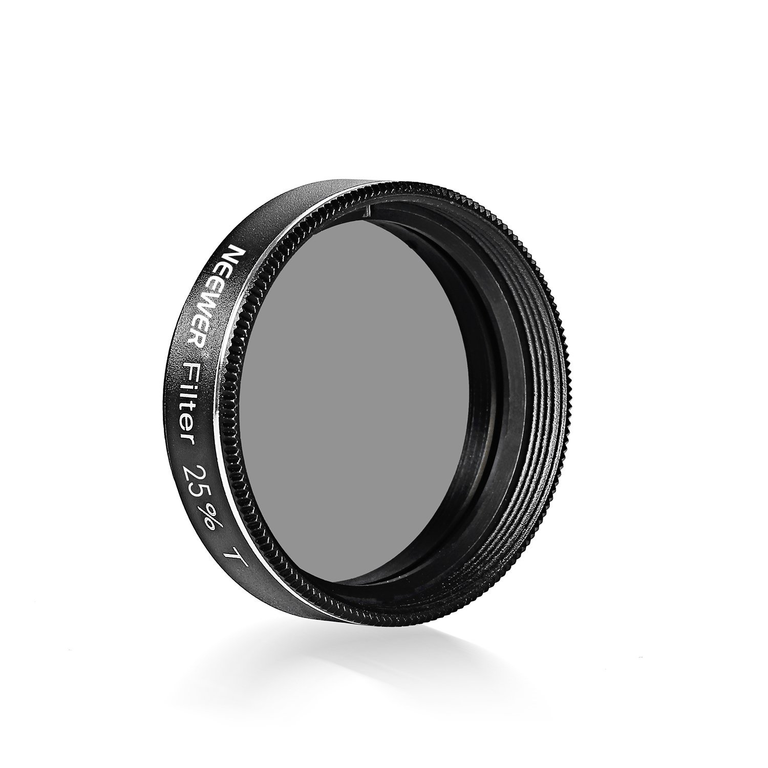 Neewer 1.25 inches 25 Percent Transmission Neutral Density Moon Filter, Aluminum Frame Metal Thread Optical Glass Telescope Eyepiece Filter Helping Reduce Overall Brightness and Irradiation (Black) by Neewer