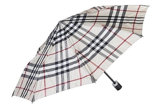 Burberry pequeño paraguas automático de hombre nuevo Trafalgar beige: Amazon.es: Zapatos y complementos