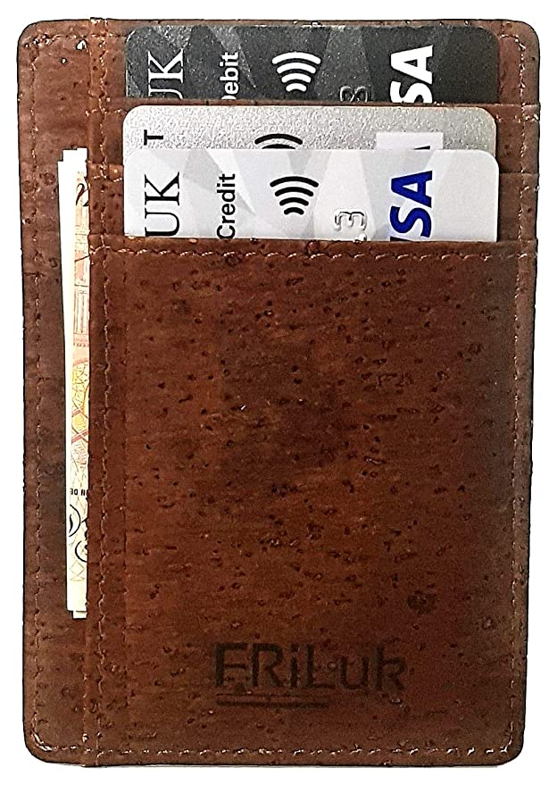 638f739fd2d9 FRiLuk Vegan Minimalist Wallet RFID Blocking Made of Cork  Amazon.co.uk   Luggage