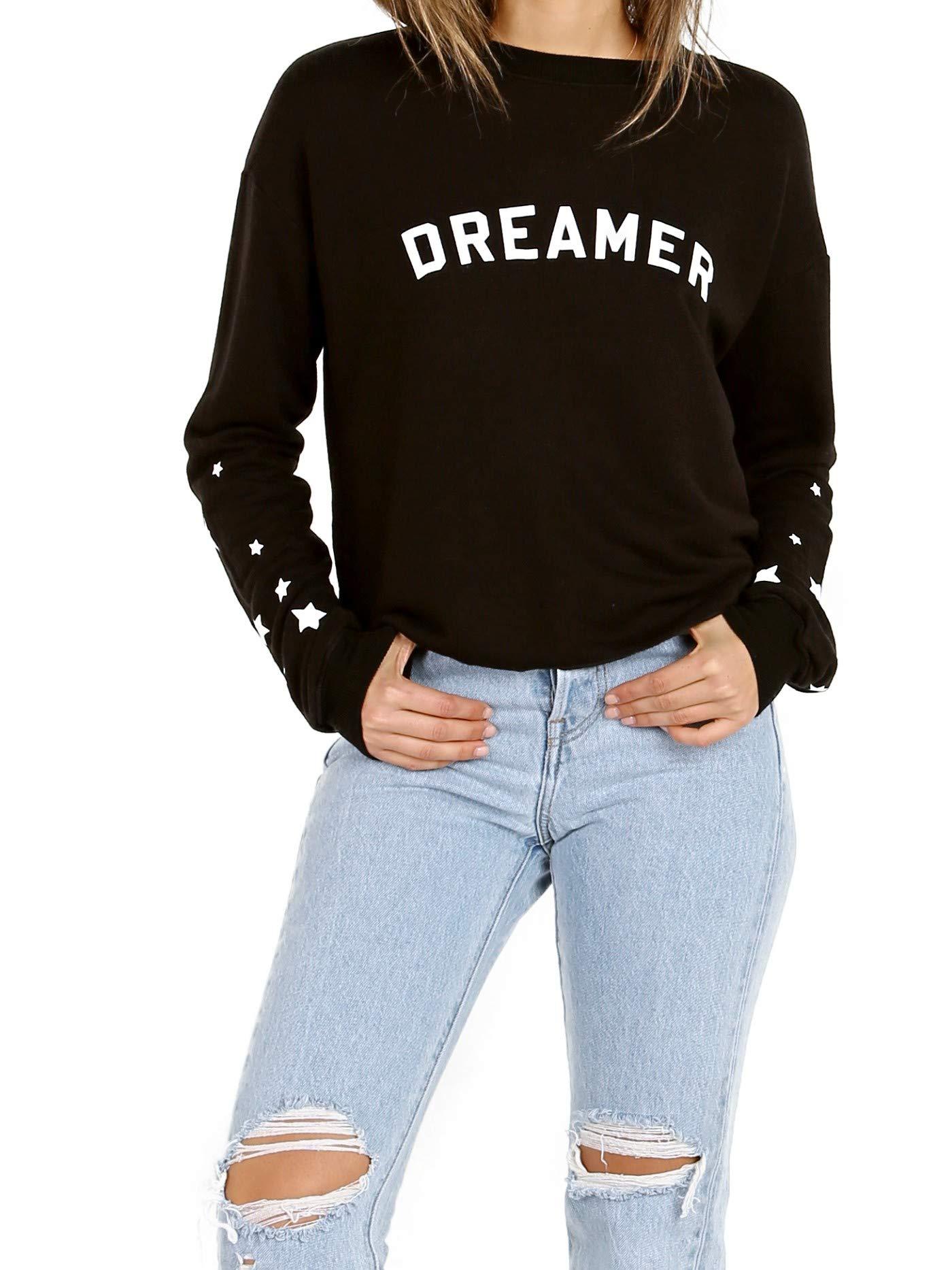 Spiritual Gangster Women's Dreamer Cropped Sweatshirt, Vintage Black, Medium