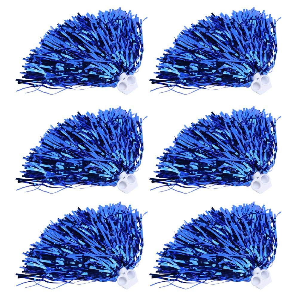 Cheerleader Pom Poms 6 / 12pcs Cheerleading Poms Metallfolie Pom Poms Squad Jubel Sport Party Dance Nützliches Zubehör Tbest