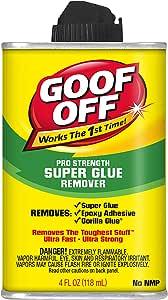 Goof Off FG677 Super Glue Remover, 4 Ounce