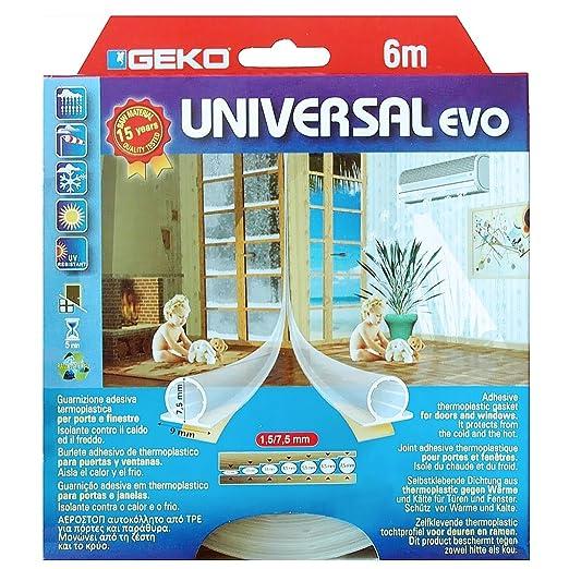 4 opinioni per Geko 940013, Guarnizione adesiva termoplastica per porte e finestre, isolante