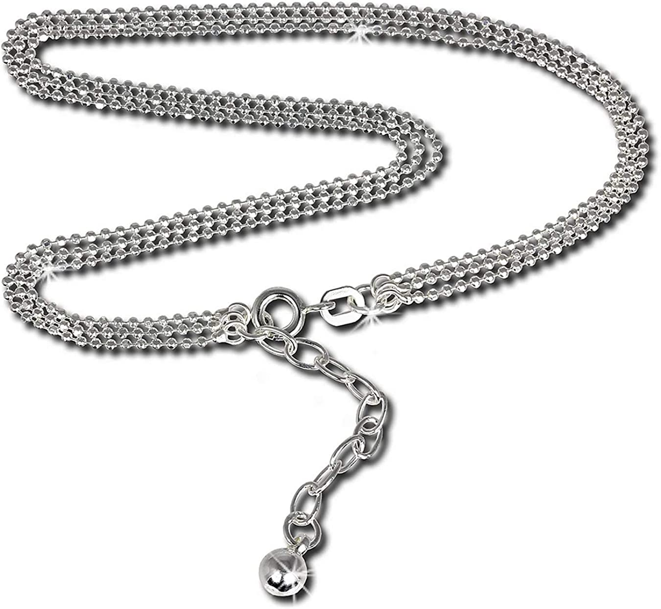SilberDream verschiedene Designs Fußketten 25cm bis 27cm 925er Silber SDF0992JX