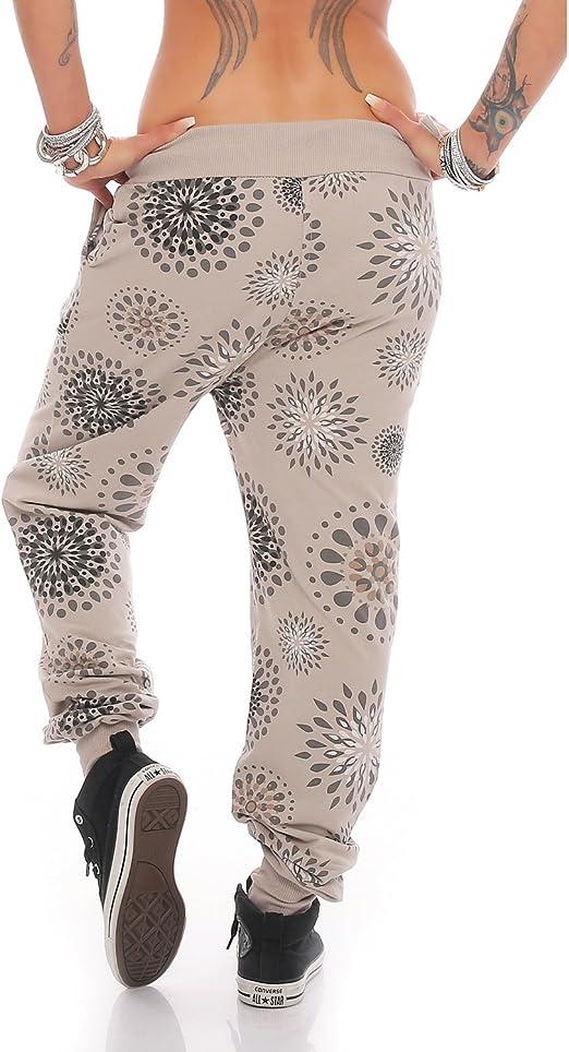 ZARMEXX Mujer Boyfriendhose con tira botones Pantalón chándal ...