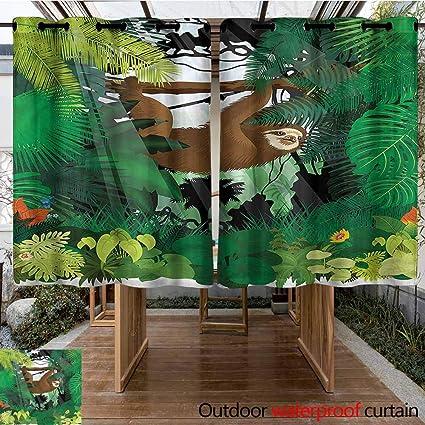 Amazon.com: Sunnyhome - Panel de cortinas con ojales para ...