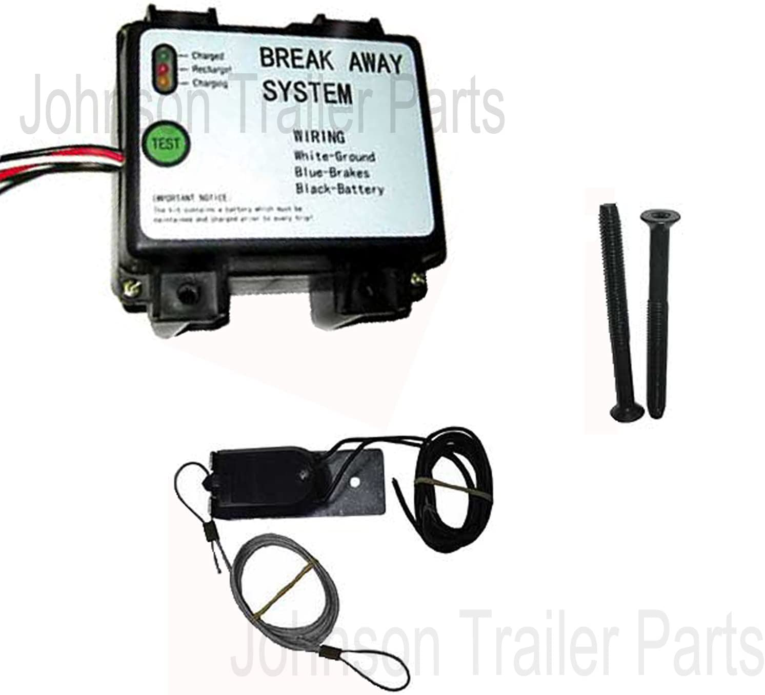 Hopkins 20019 Trailer Break Away Kit with Battery Charger and 44 Switch