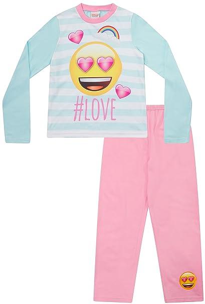Pijama para niñas adolescentes, diseño de emoji y hashtag #Love, de 8 a