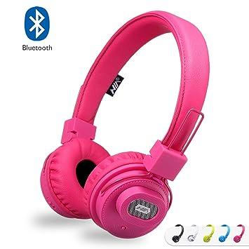 Auriculares Bluetooth con altavoz Bluetooth, auriculares estéreo recargables plegables en la oreja con micrófono incorporado