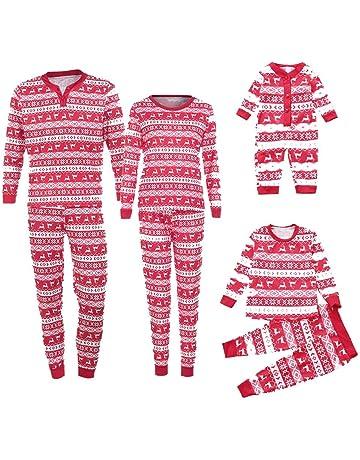 Conjunto de Pijamas Familiares Trajes de Ropa Familiar Hombre Ciervo Camiseta Blusa Ofertas Top Blusa Pantalones
