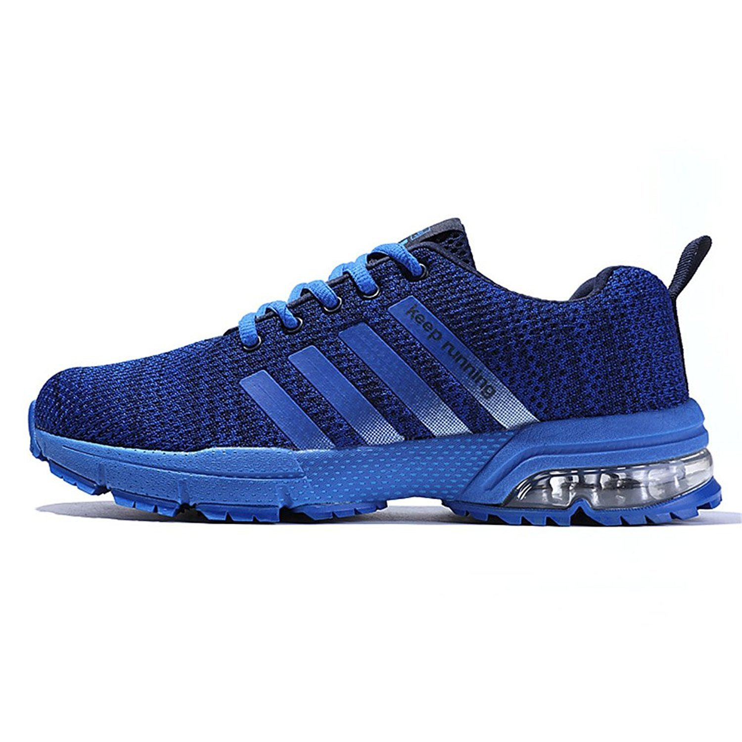 XIDISO Mens and Womens Sneakers Air Cushion Sports Running Shoes for Men Lightweight Breathable Athletic B07D2BQPFX 6 US Women =EU 37|Blue