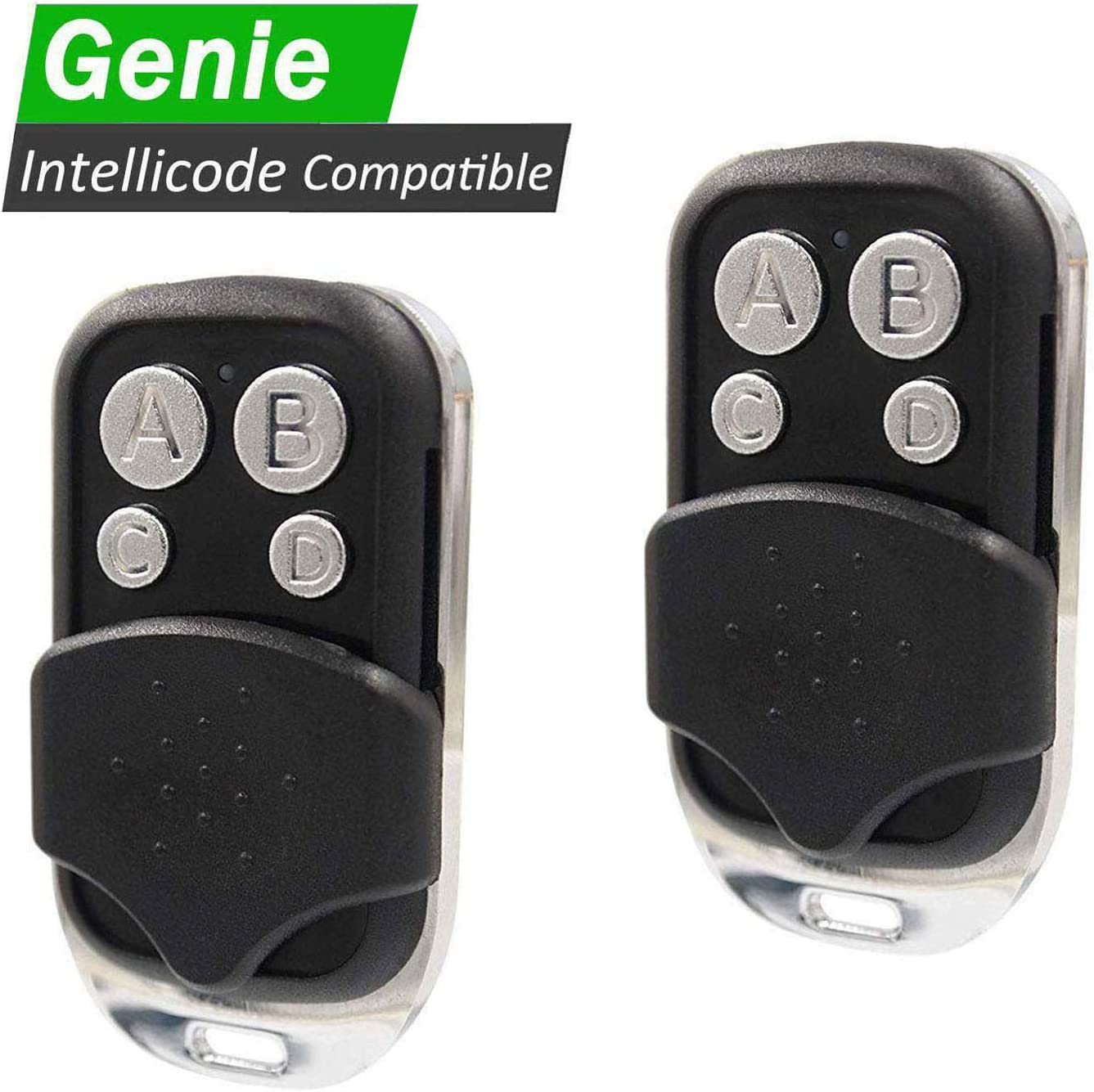 2 Pack - Replacement for Genie G3T-R G1T-BX GITR-3 GIT-1 GIT-2 GIT-3 - Overhead Door O1T-BX O3T-BX OCDTR-3 Remote - Compatible with Intellicode & CodeDodger Garage Door Openers (C-IC)