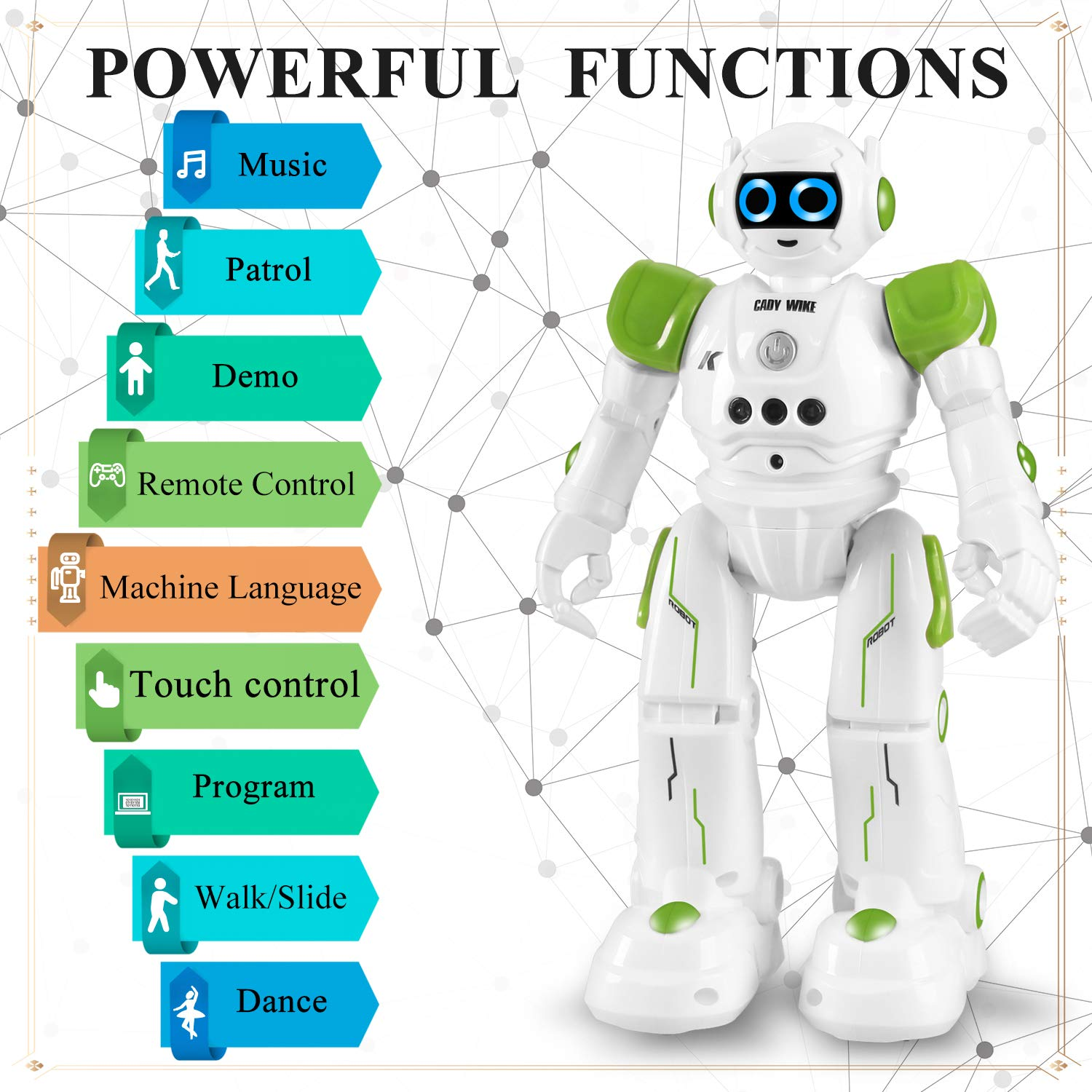 Smart Robot Kit with Remote Control /& Gesture Control Perfect Robotics Gifts for Boys Girls Learning Programmable Walking Dancing Singing IHBUDS Robot Toy for Kids