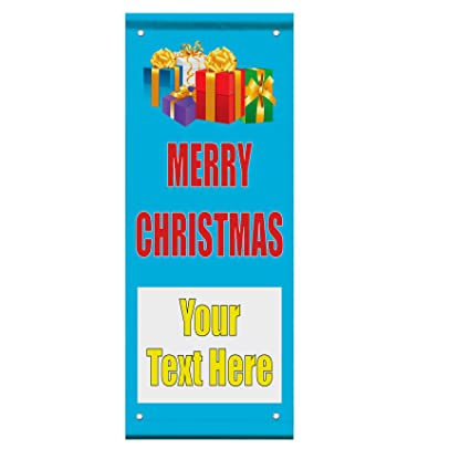 merry christmas sale custom double sided vertical pole banner sign 24 in x 48 in w - Amazon After Christmas Sale