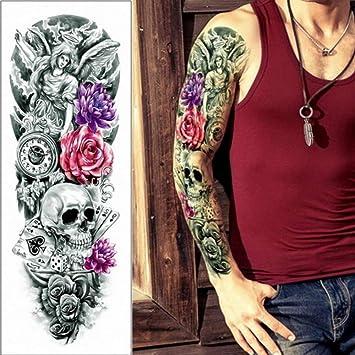 3 piezas nuevo brazo completo tatuaje temporal manga estatua de ...