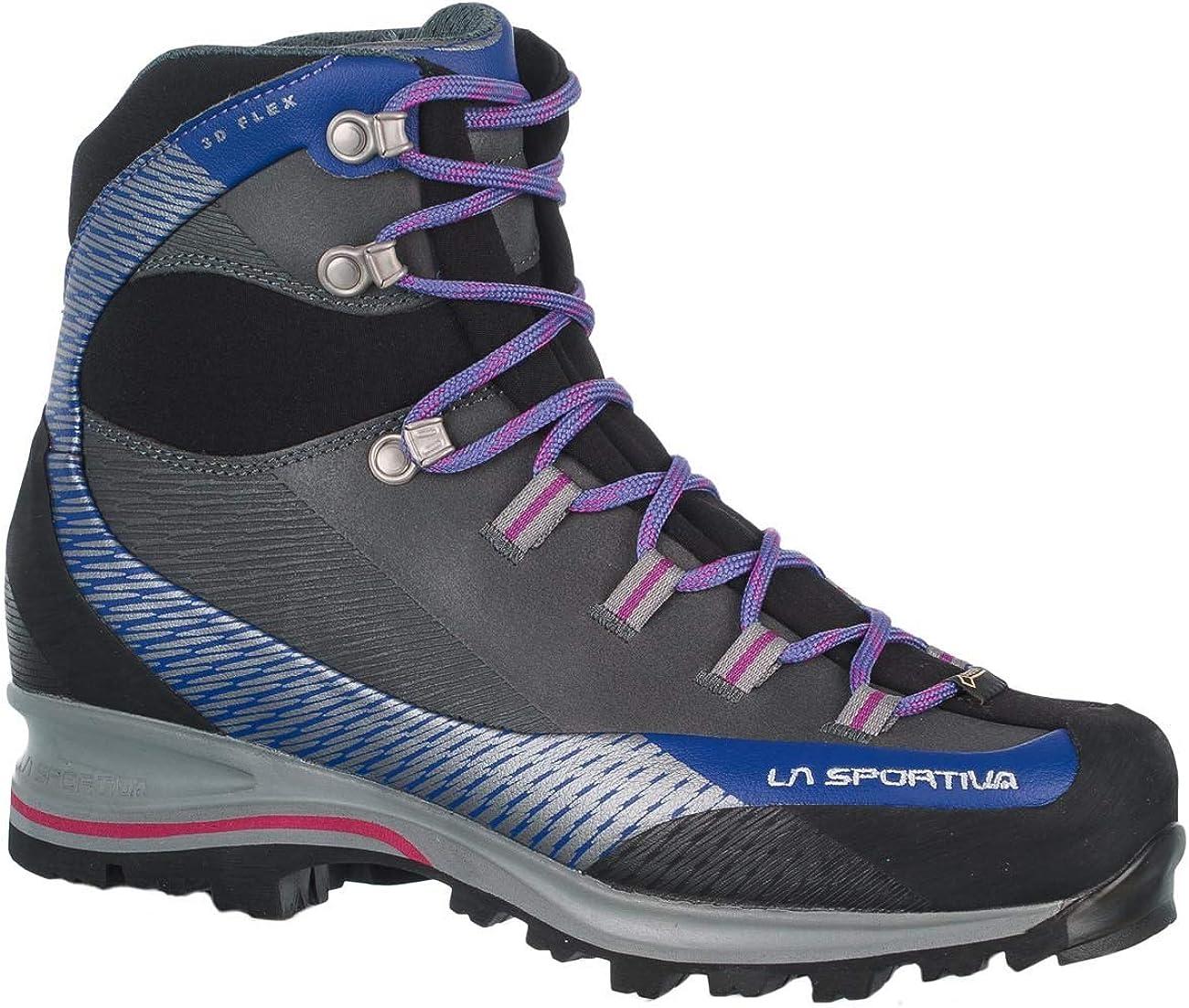 Botas de Senderismo para Mujer La Sportiva Trango TRK Leather Woman GTX Iris Blue//Purple