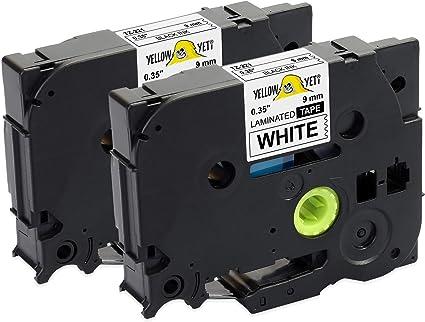 TZe-221 Noir sur Blanc Cassette Lamin/é Compatible Brother P-Touch GL-H100 PT-D400 PT-E100 PT-H105 PT-D600 PT-P700 5 Ruban pour Brother TZe221