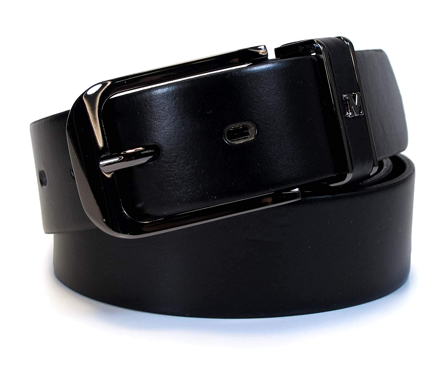Mens Real Genuine Leather Belt Black Brown White 1.25 Wide S-L Casual Jeans TM2