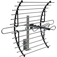 GE 33692 Attic Mount HD TV Antenna - 60 Mile Range – Indoor Long Range Compact Design with Mount for VHF/UHF Channels - Optimized for FULLHD 1080p and 4K Ready