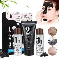 Masque Point Noir, LuckyFine, Blackhead Step Kit, Peel off Masque, Masque Noir, Peau Nettoyage, Anti-Point Masque, Black Head Masque, Blackhead Remover Masque En 3 Kit