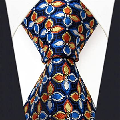 Shlax & Wing Necktie Men's Ties Blue Orange Floral New Design Extra Long