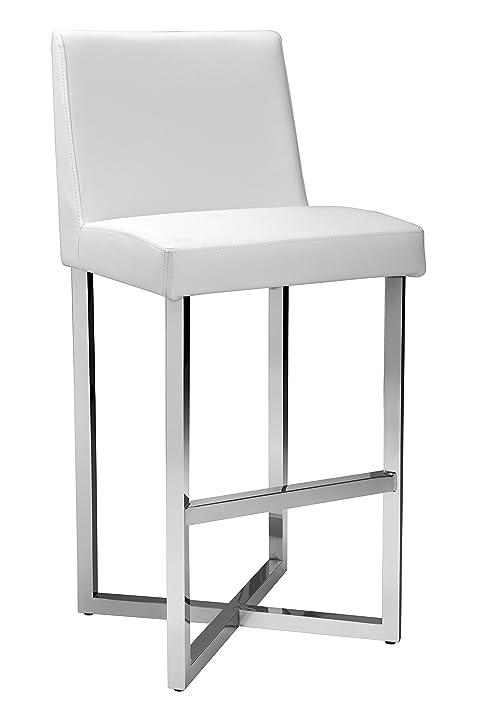 Exceptional Sunpan Modern Howard Barstool, White Amazing Design