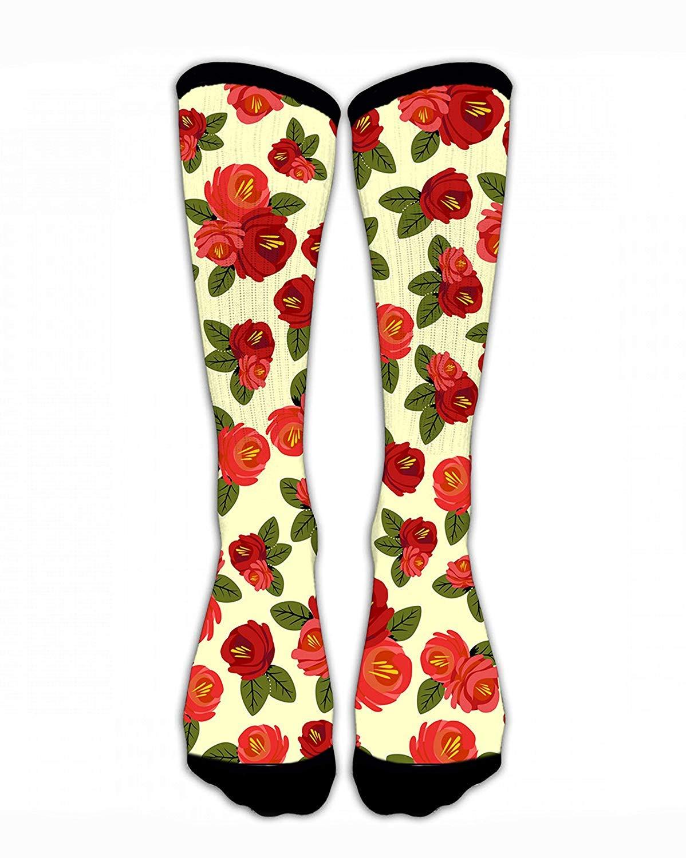 268d4f24d8924 Amazon.com: NFHRREEUR Vintage Floral Romantic Red Rose Casual Unisex ...