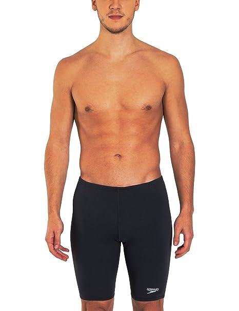 0c4f77400d Amazon.com : Speedo Men's Endurance+ Polyester Solid Jammer Swimsuit ...