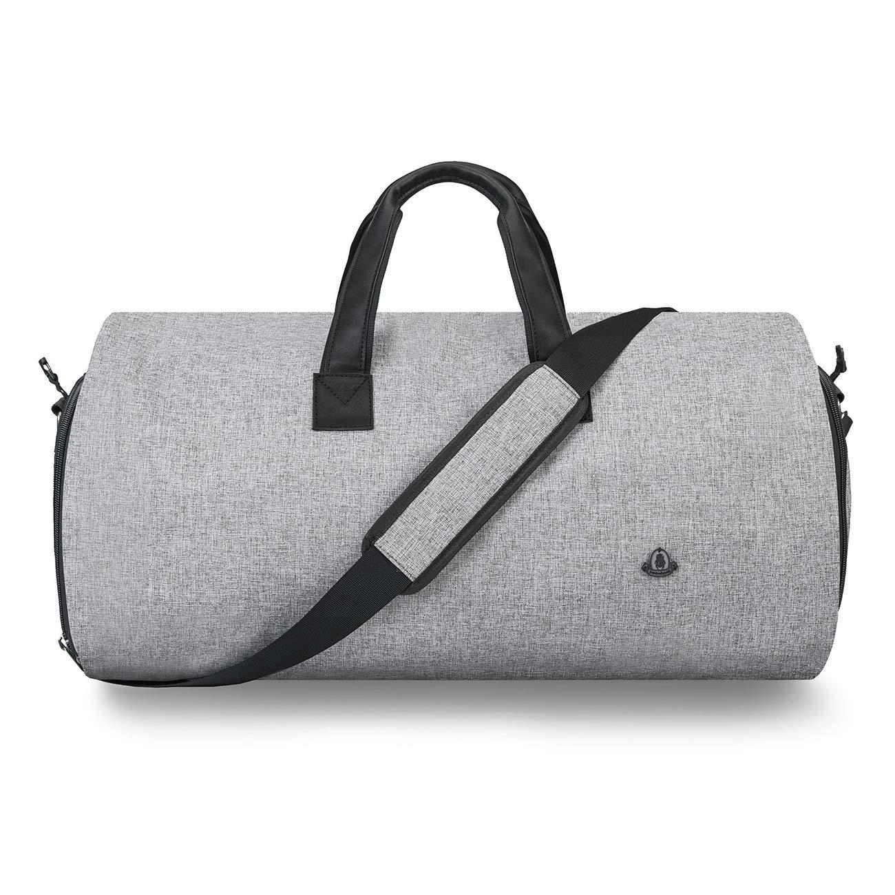 8a3b0988dc01 BUG Travel Garment Bag and Duffel,Convertible Garment Duffel Bag - 2 in 1  Suit Garment Bag,Light Gray