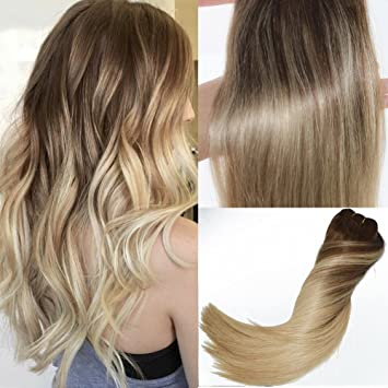 14 inch ombre human hair clip in remi hair extensions color medium 14 inch ombre human hair clip in remi hair extensions color medium brown to ash blonde pmusecretfo Choice Image