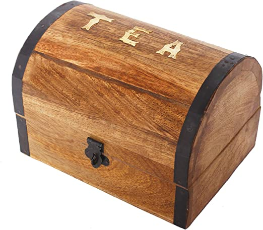 Caja de almacenamiento decorativa de madera para bolsas de té ...