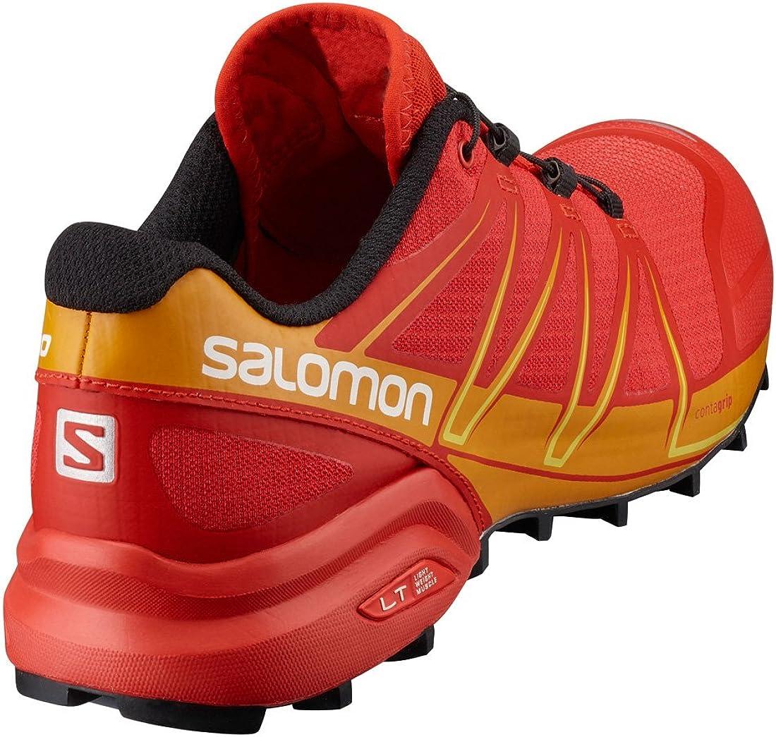 Scarpe Trail Running SALOMON SPEEDCROSS PRO Radiant Red Black Gecko Green