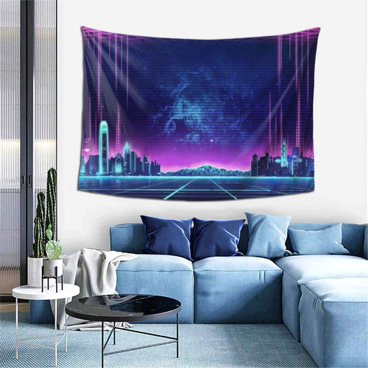 Amazon Com Touhou Abstract City Buildings Wall Art Hanging Decor Tapestry 60x40 Inch Home Kitchen