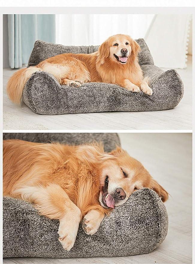 Cama perro Cama Grande para Perros, Gris, Gruesa, Personalizada, Gato para Mascotas, cojín ortopédico, con Funda extraíble, 108 × 85 × 6 cm: Amazon.es: ...
