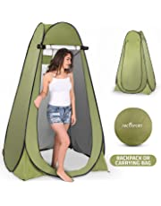 Pop Up Privacy Tent – Instant Portable Outdoor Shower Tent, Camp Toilet, Changing Room, Rain Shelter with Window – for Camping and Beach – Easy Set Up, Foldable with Carry Bag – Lightweight and Sturdy