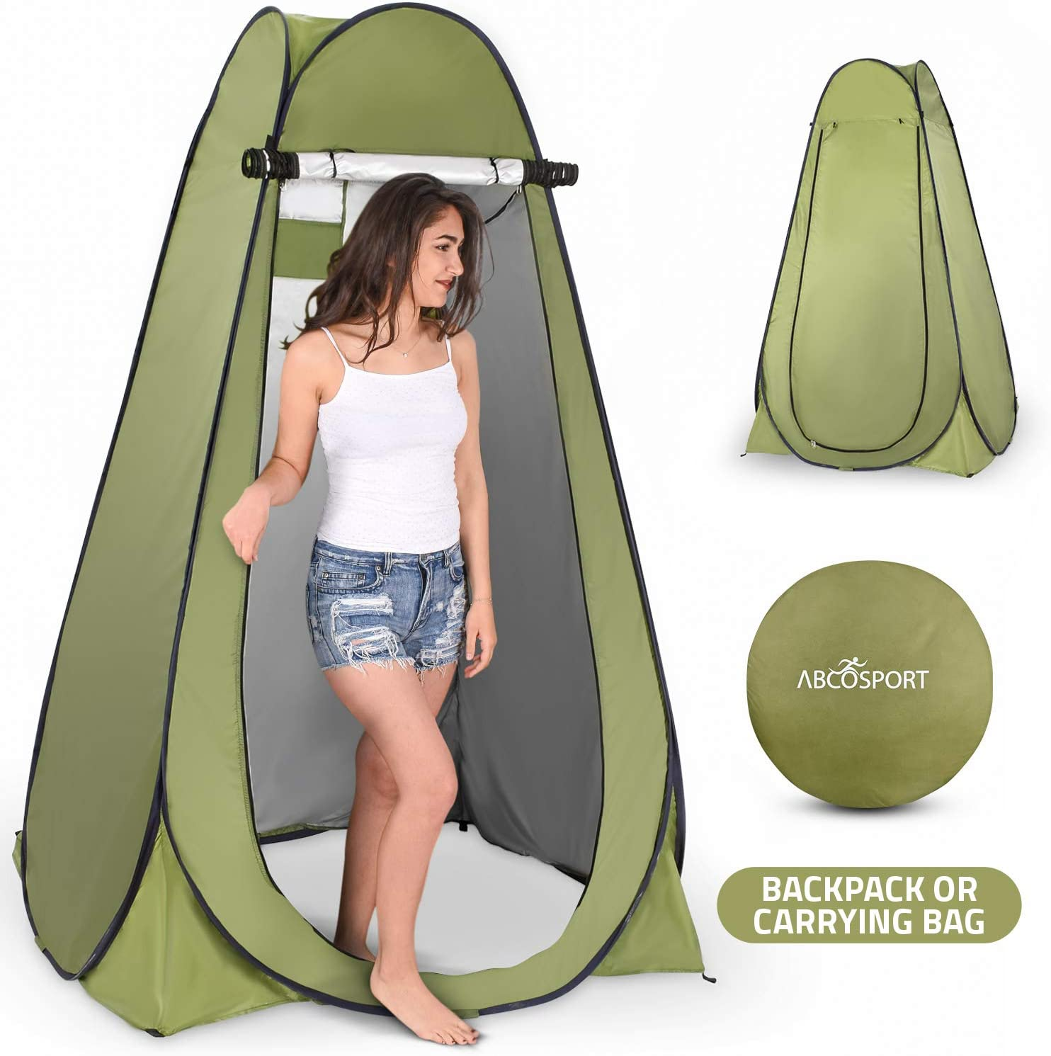 Insta Shelter for Porta Potty Toilets or/ Showers Outdoor Toilet PopUp Privacy Tent for Portable Toilet for Camping Outdoor Shower Tent Camp Site Bathroom Restroom Enclosure Changing Pod