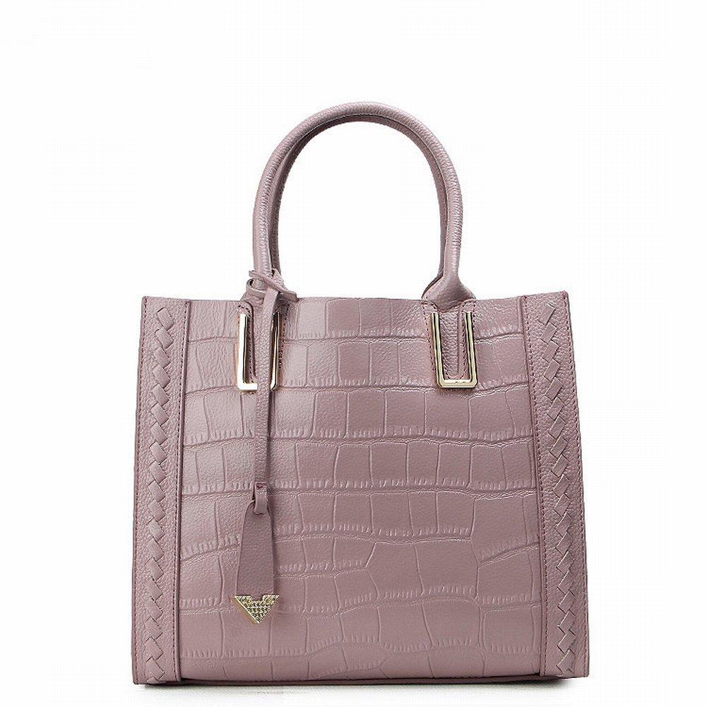 Fashion Handtaschen Krokodilmuster Leder Schulter Diagonal Handtasche Handtasche Fabrik , Taro lila