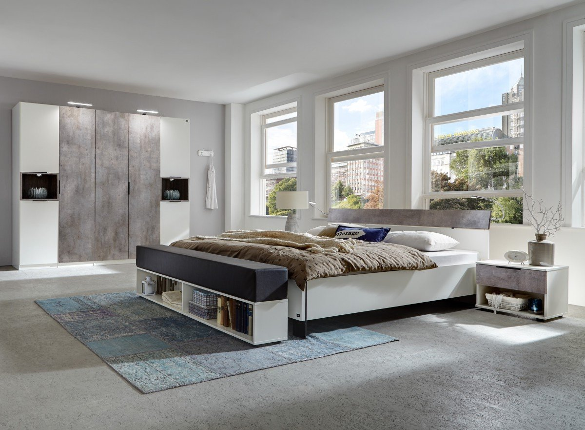 Dreams4Home Schlafzimmer Set \'Kari\' - Doppelbett 180x200 cm - inkl ...