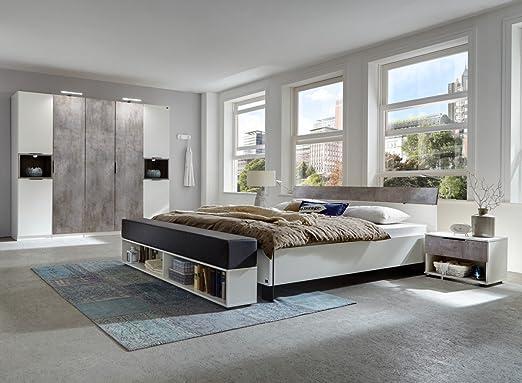 Dreams4Home Schlafzimmer Set \'Kari\' - Doppelbett 180x200 cm ...