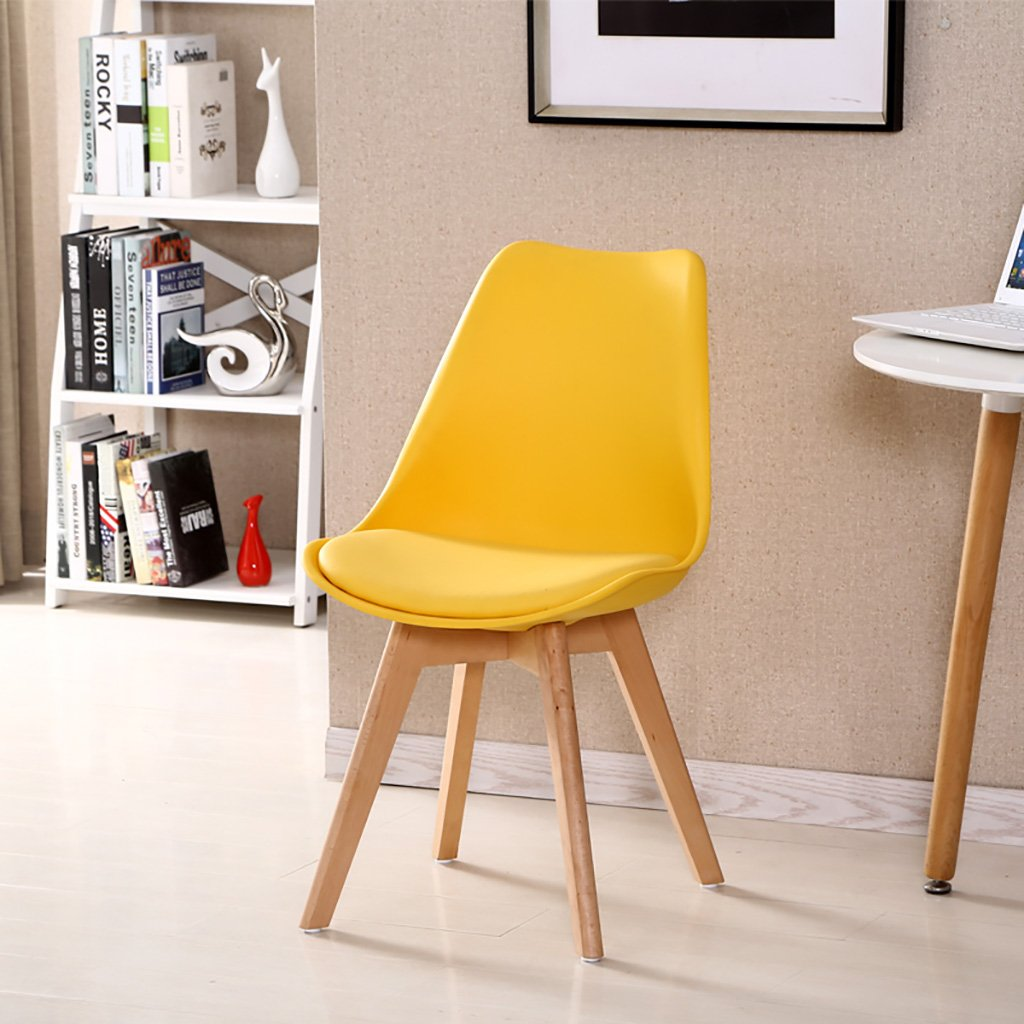 F Simple Retro Conference Chairs Negotiating Chairs Solid Wood Chairs Feet Restaurant Chairs Creative Commercial Plastic Chair Backrest Lounge Chairs Computer Chairs Size  3787cm (color   H)