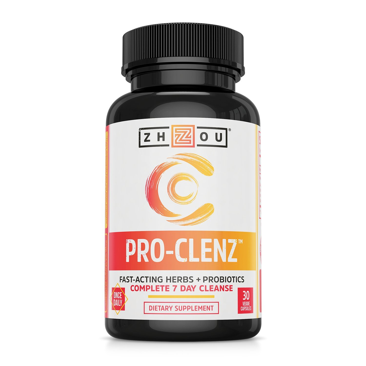 Pro-Clenz 7 Day Colon Cleanse Detox with Probiotics - Healthy Weight, Regularity and Digestion Formula - with Senna, Cascara Sagrada & Bacillus Coagulans - 30 Capsules