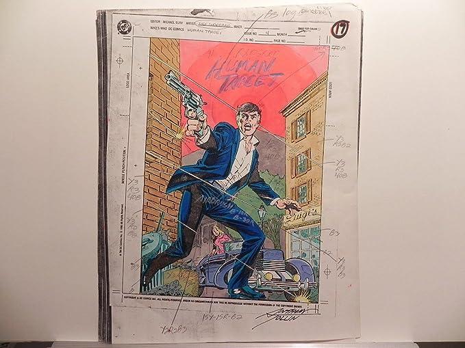 DC COMICS HUMAN TARGET #4 SIGNED ORIGINAL PRODUCTION ART